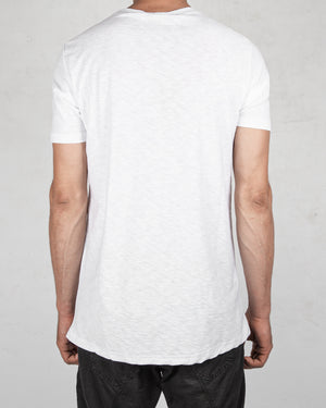 Xagon - Flammed cotton tshirt white - https://stilett.com/
