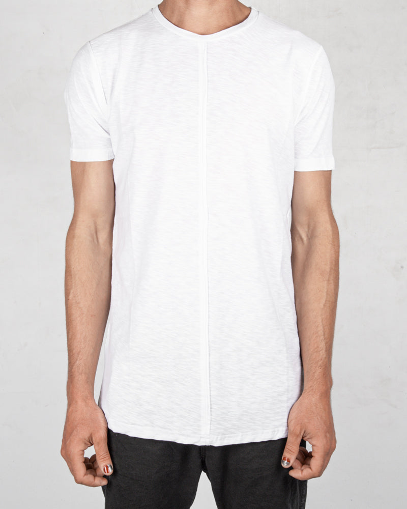 Xagon - Flammed cotton tshirt white - Stilett.com