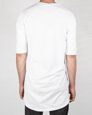 La haine inside us - Frontal seam tshirt long white - https://stilett.com/