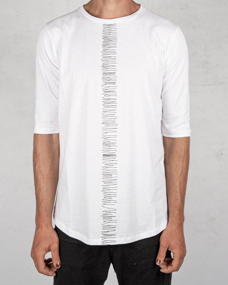 La haine inside us - Frontal seam tshirt regular white - Stilett.com