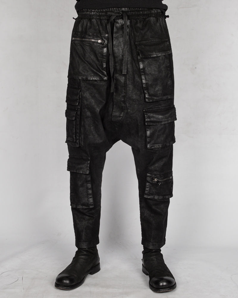La haine inside us - Laminated low crotch gabardina cotton trouser - Stilett.com
