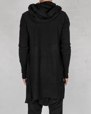 La haine inside us - Long asymmetric wool cardigan - https://stilett.com/