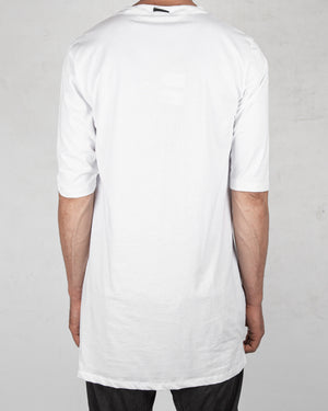 La haine inside us - Long contrast seamed tshirt white - https://stilett.com/