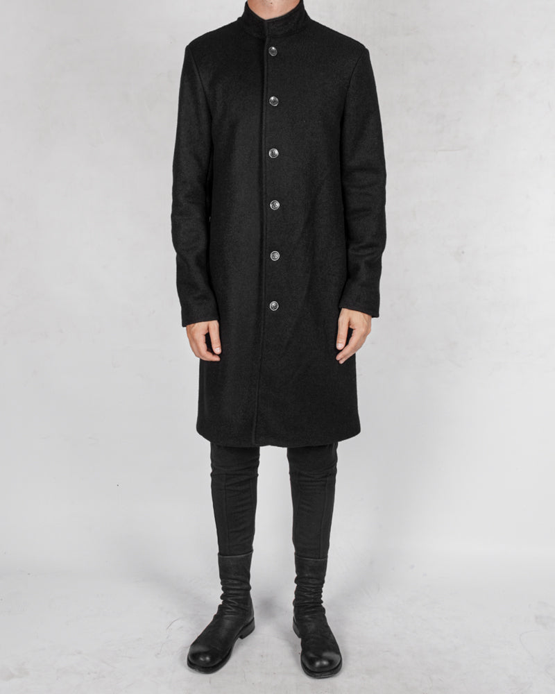 La haine inside us - Long korean neck wool coat - Stilett.com