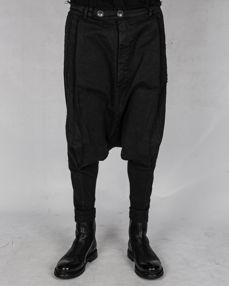 La haine inside us - Low crotch gabardina cotton trouser - Stilett.com