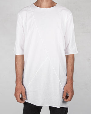La haine inside us - Muslin cotton t-shirt white - https://stilett.com/