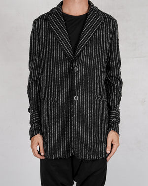 La haine inside us - Pinstripe cotton jacket - https://stilett.com/