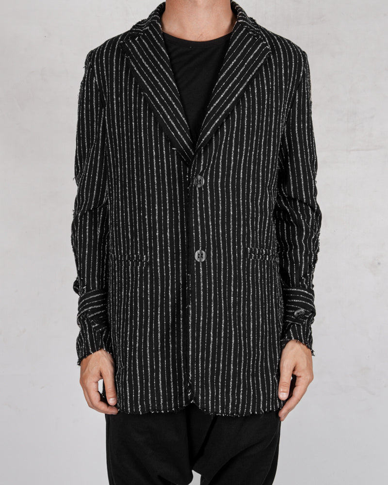 La haine inside us - Pinstripe cotton jacket - Stilett.com