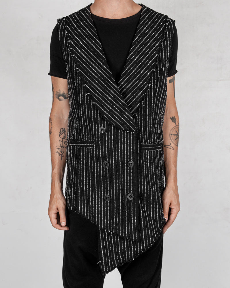 La haine inside us - Pinstripe cotton vest - Stilett.com