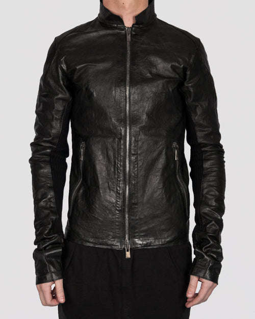 Leon Louis - Enos scar leather jacket - Stilett.com
