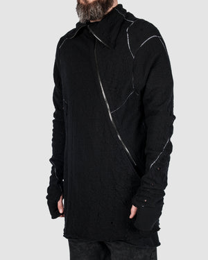 Leon Louis - High collar zip sweater - https://stilett.com/