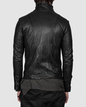 Leon Louis - Molis high collar leather jacket - https://stilett.com/