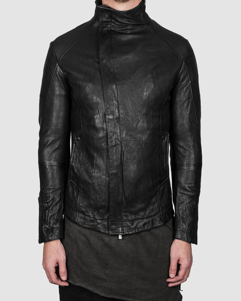 Leon Louis - Molis high collar leather jacket - Stilett.com