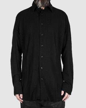 Leon Louis - Silk shirt black - https://stilett.com/