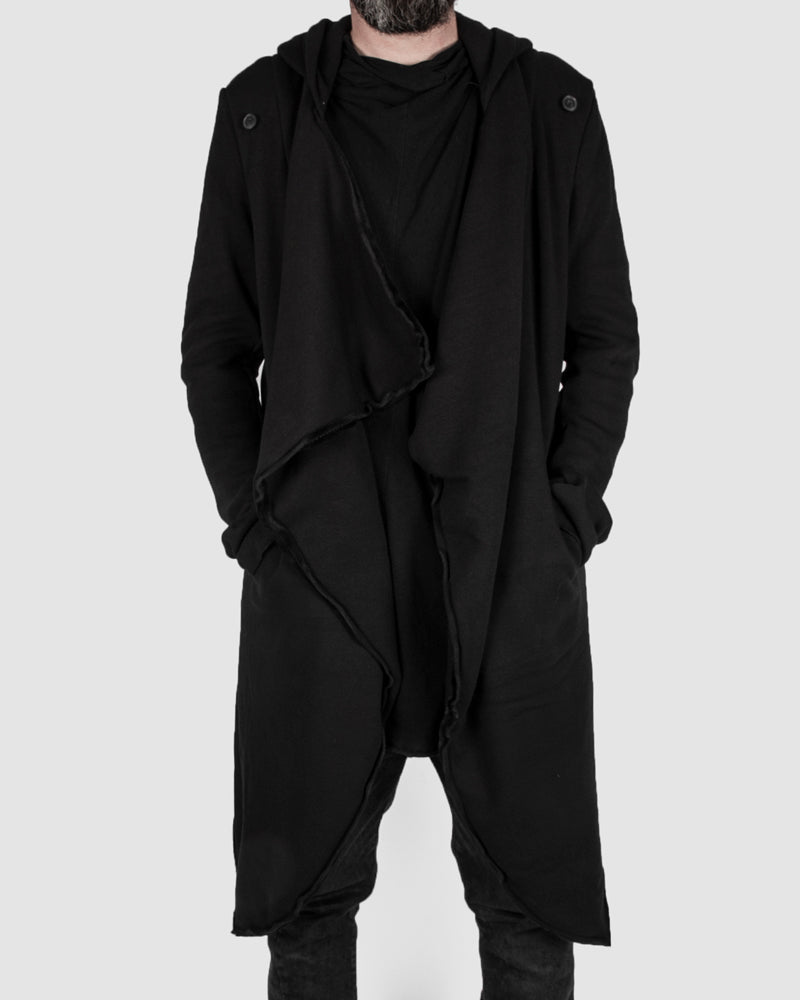 Misomber Nuan - Asymmetric hooded cardigan - Stilett.com