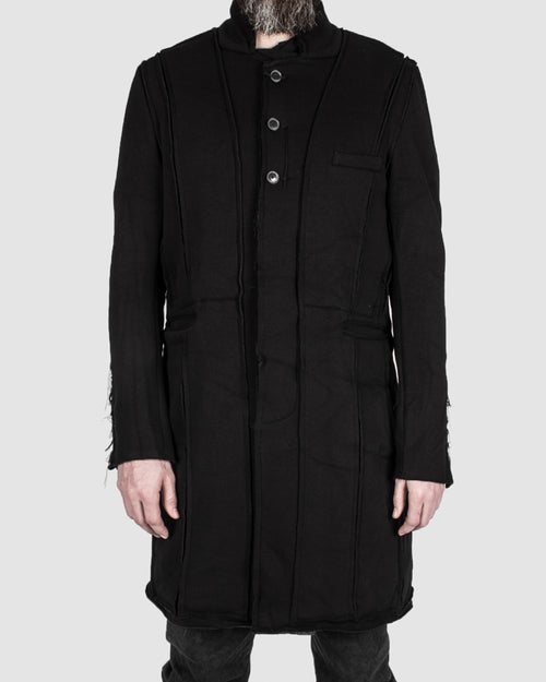 Frayd detail cotton coat