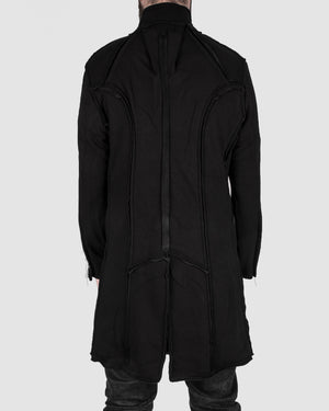 Misomber Nuan - Frayd detail cotton coat - https://stilett.com/