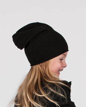 Nostra Santissima Kids - Black Beanie - https://stilett.com/