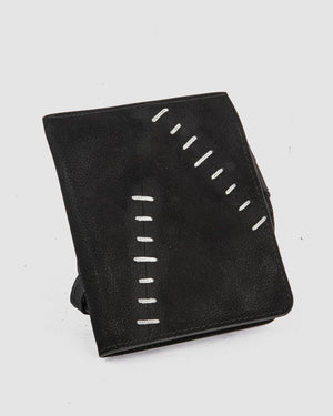 Object - Quandry scar stitched leather wallet - https://stilett.com/