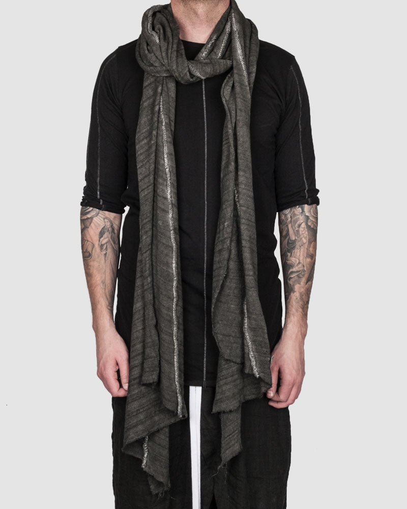 Object - Swathed stonewashed scarf grey - https://stilett.com/