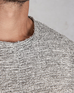 Xagon - Real cut sweater light grey - https://stilett.com/