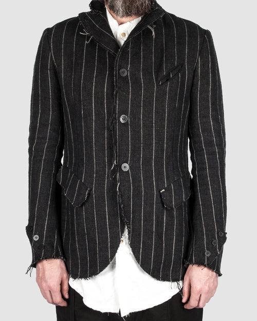 Reversable striped blazer
