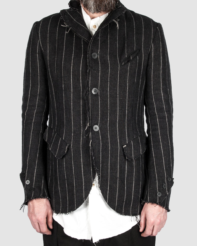 S.S.S.R Venezia - Marc Point - Reversable striped blazer - https://stilett.com/