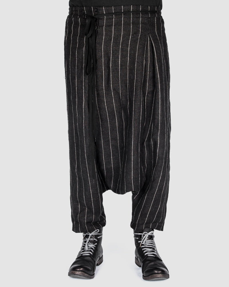 S.S.S.R Venezia - Marc Point - Striped drop crotch pants - https://stilett.com/