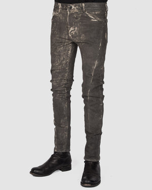 Versuchskind - Ase cold-dyed grey with irregular wax-coating - https://stilett.com/