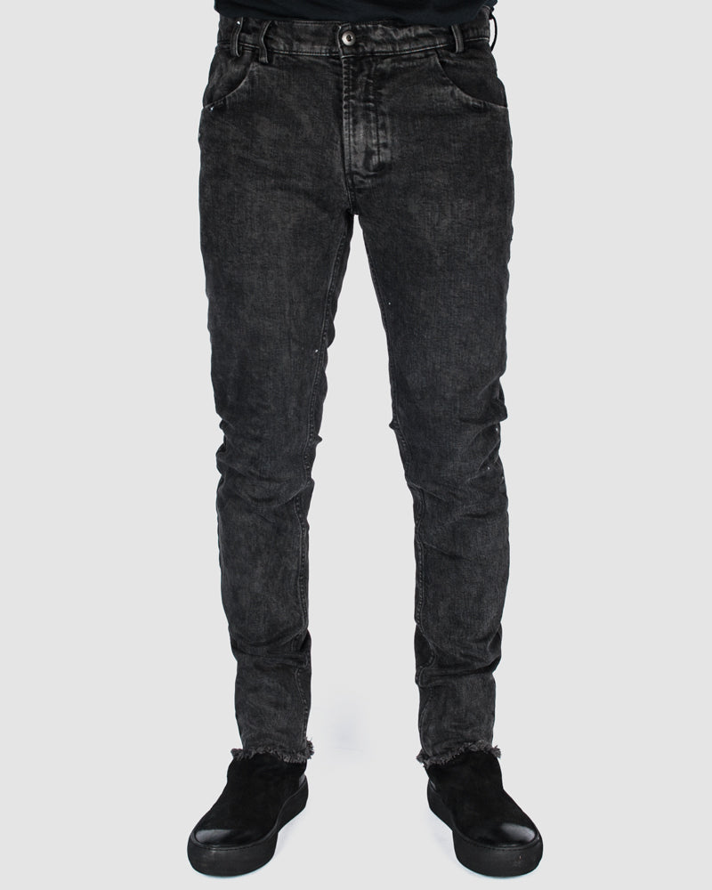 Versuchskind - Wax spotted slim-tab jeans - https://stilett.com/
