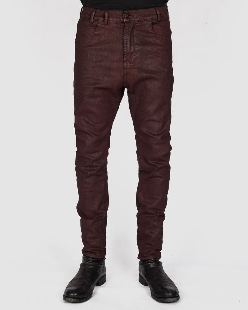 Versuchskind - ZAG black denim with red wax-coating - Stilett.com