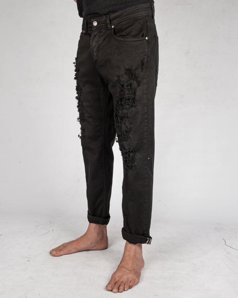 Xagon - Comfort fit breakage jeans black - Stilett.com