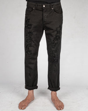 Xagon - Comfort fit breakage jeans black - https://stilett.com/