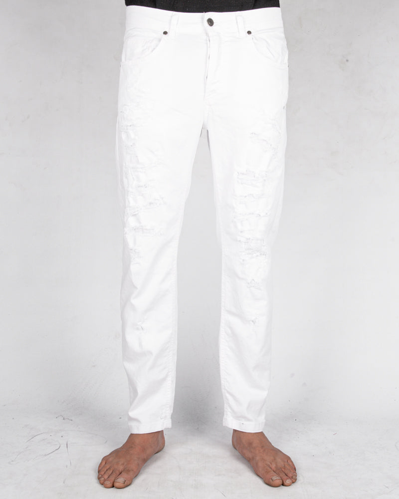 Comfort fit breakage jeans white