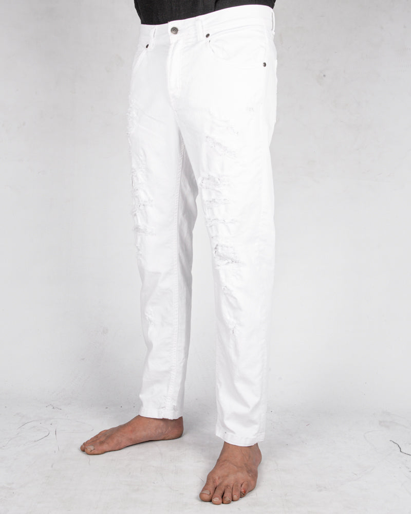 Xagon - Comfort fit breakage jeans white - Stilett.com