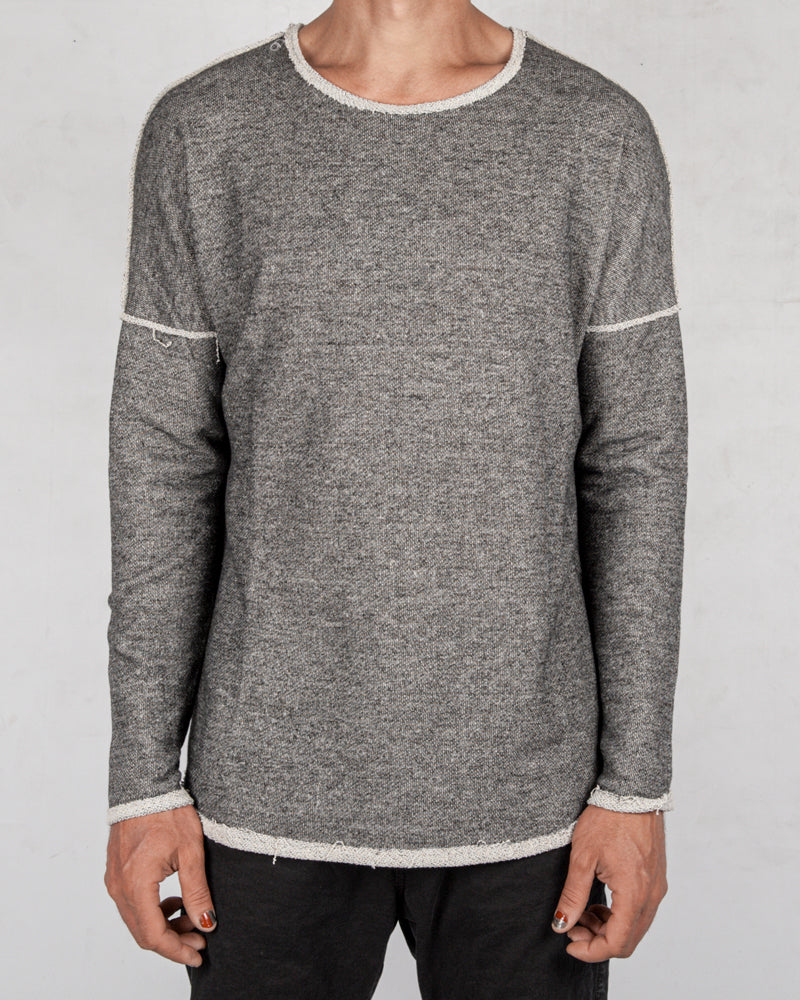 Xagon - Crew neck sweater grey - https://stilett.com/