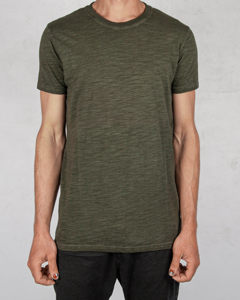 Xagon - Flammed cotton tshirt green - Stilett.com
