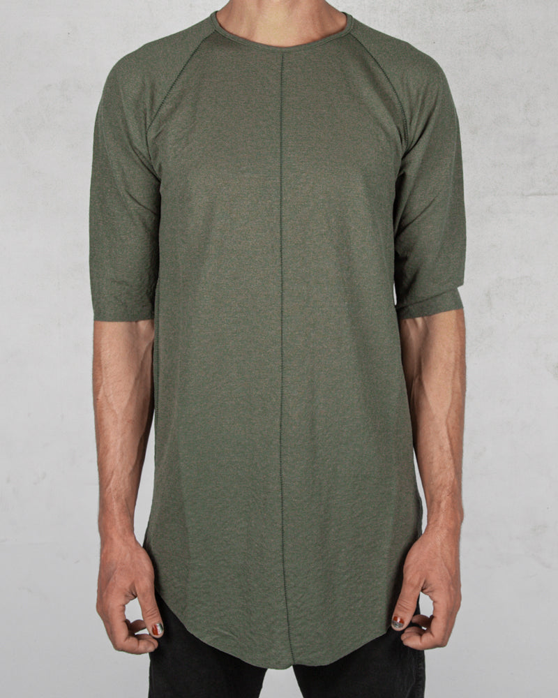 Xagon - Long contrast seam tshirt green - https://stilett.com/