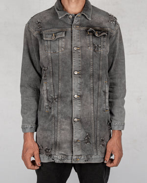 Xagon - Oversize denim jacket grey - https://stilett.com/