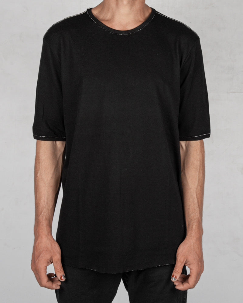 Xagon - Regular fit double face tshirt - https://stilett.com/
