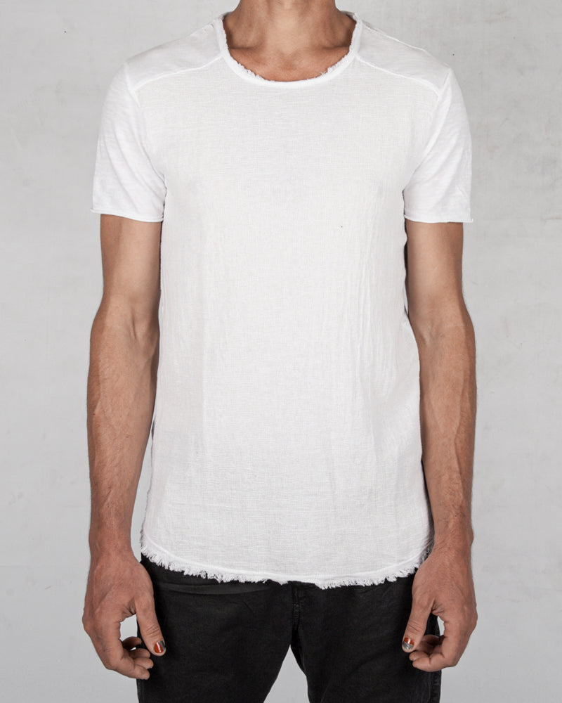 Xagon - Regular fit linen cotton tshirt white - Stilett.com