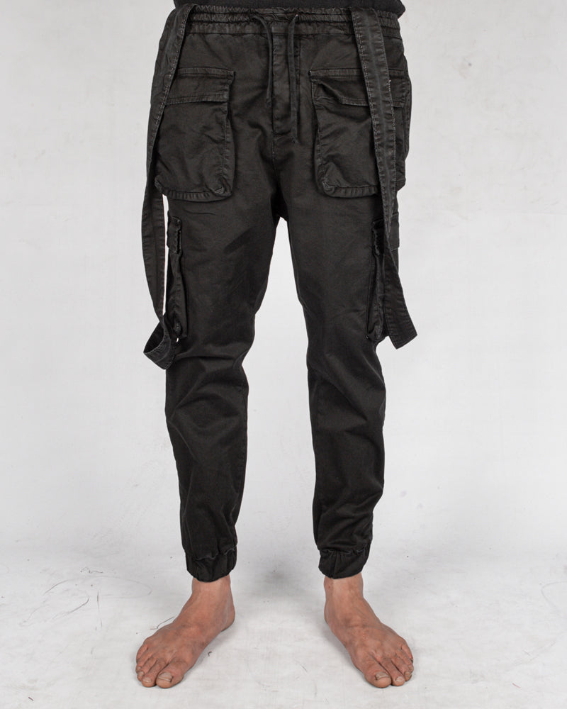 Xagon - Suspender trousers black - Stilett.com