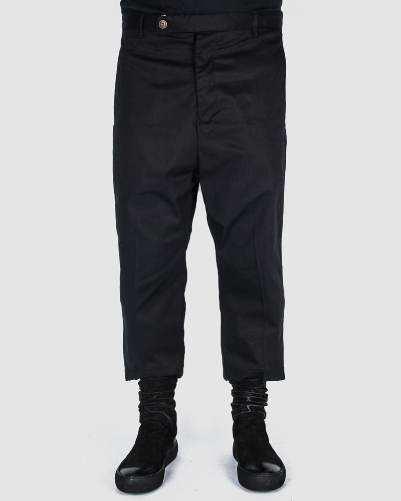 Xagon - Cropped deep crotch pants - https://stilett.com/