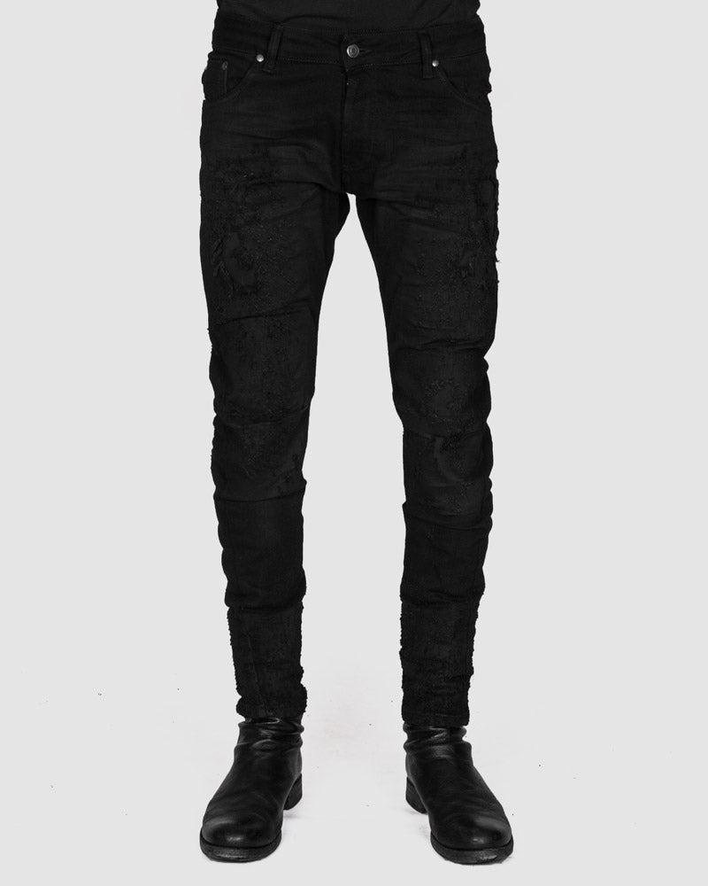 Xagon - Distressed black jeans - Stilett.com