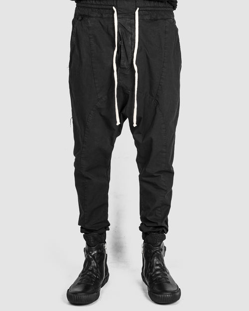 Xagon - Drawstring low crotch stretch pants black - Stilett.com
