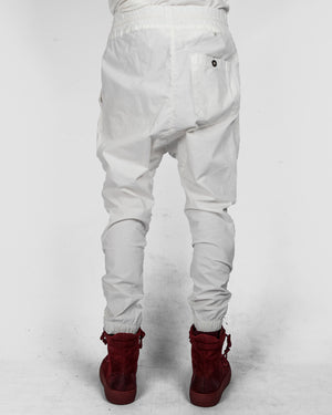 Xagon - Drawstring low crotch stretch pants white - https://stilett.com/