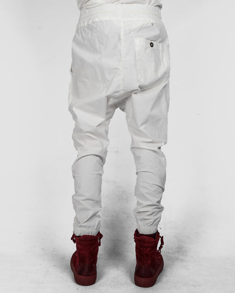 Xagon - Drawstring low crotch stretch pants white - Stilett.com