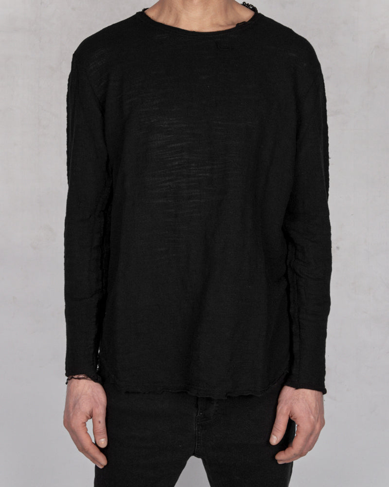 Xagon - Oversize flamed cotton sweater - Stilett.com