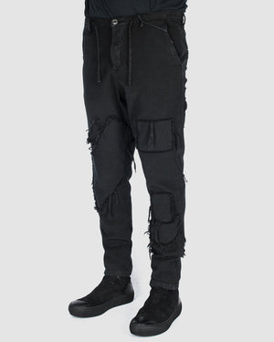 Xagon - Patchwork pants - https://stilett.com/