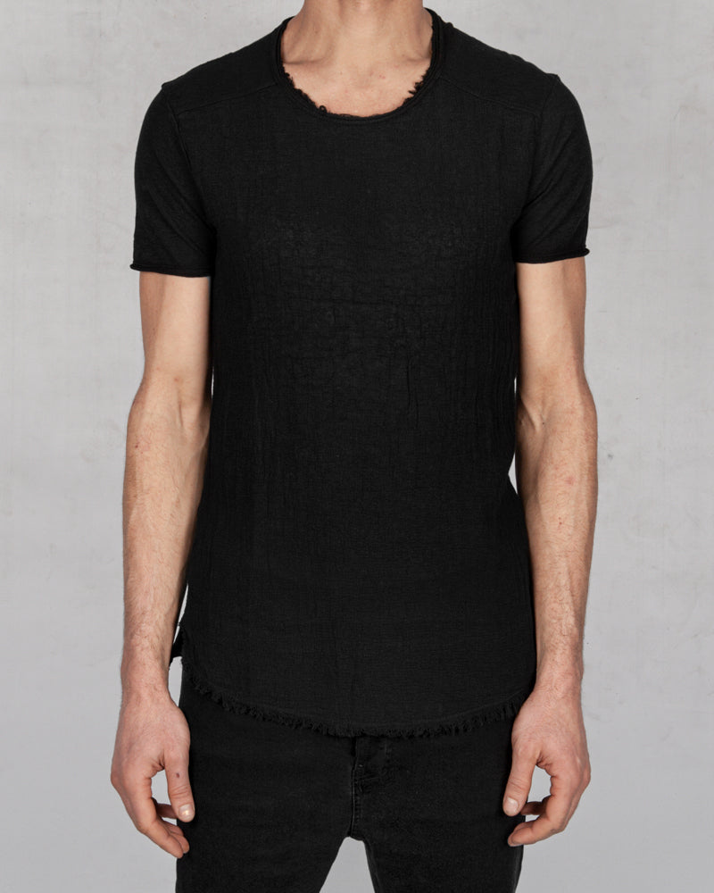 Xagon - Regular fit linen cotton tshirt - Stilett.com